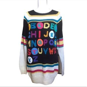 Vintage Bonnie Boerer Alphabet Sweater